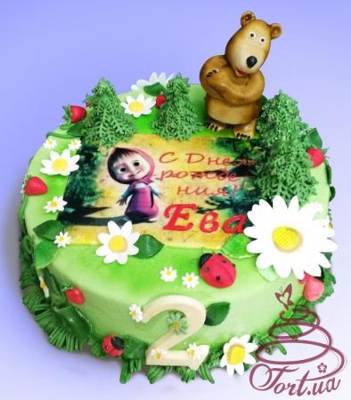 "Детский торт  ""Маша и медведь """