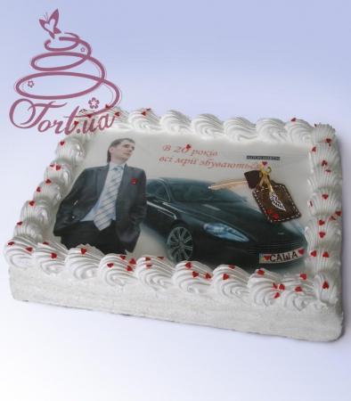Торт с фото именинника